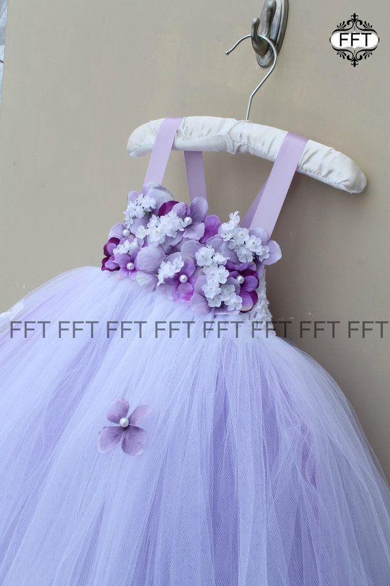 163e0af1f26 Lavender Flower Girl Dress Light Purple Tutu Dress