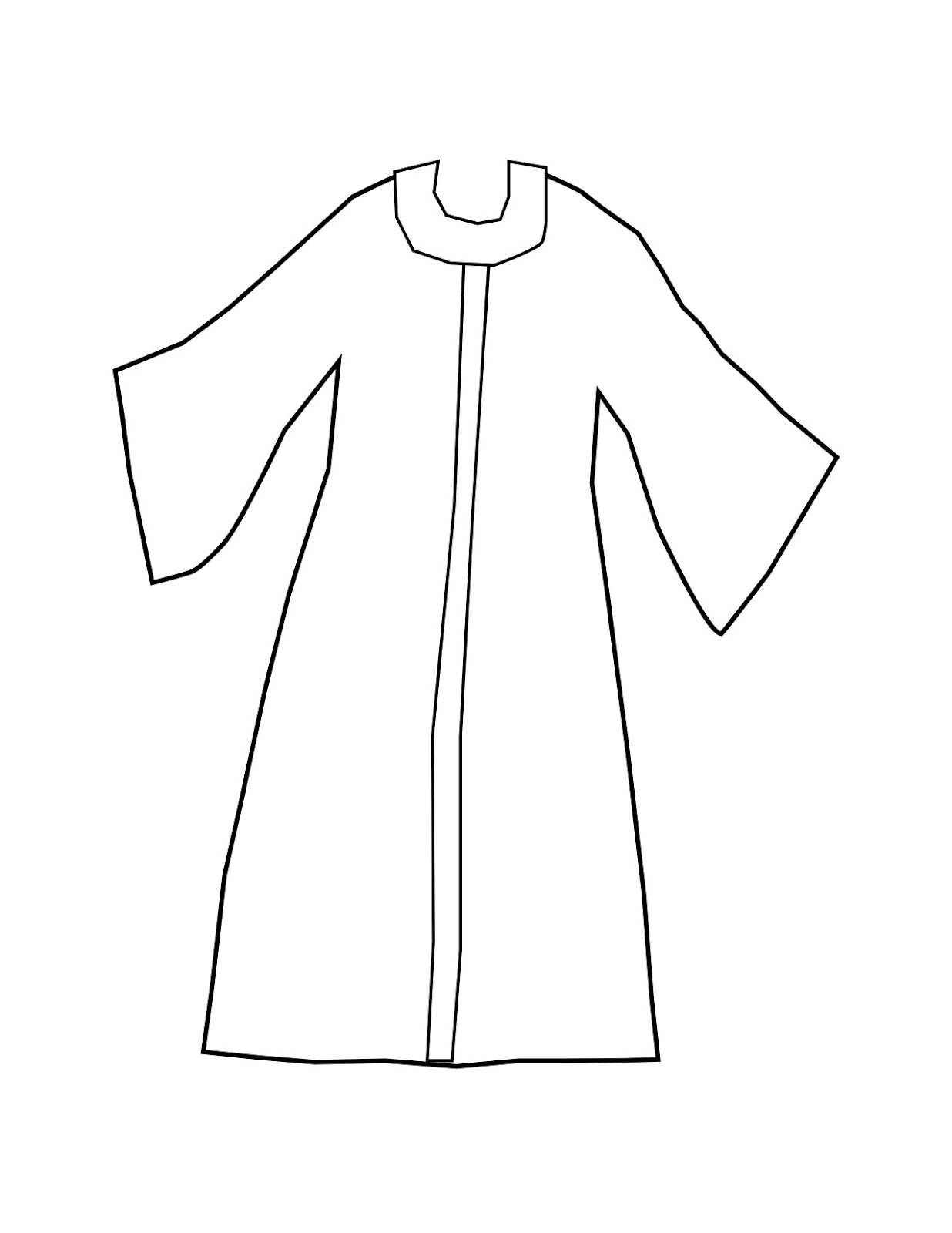 Blank Template Of A Coat To Wear Joseph