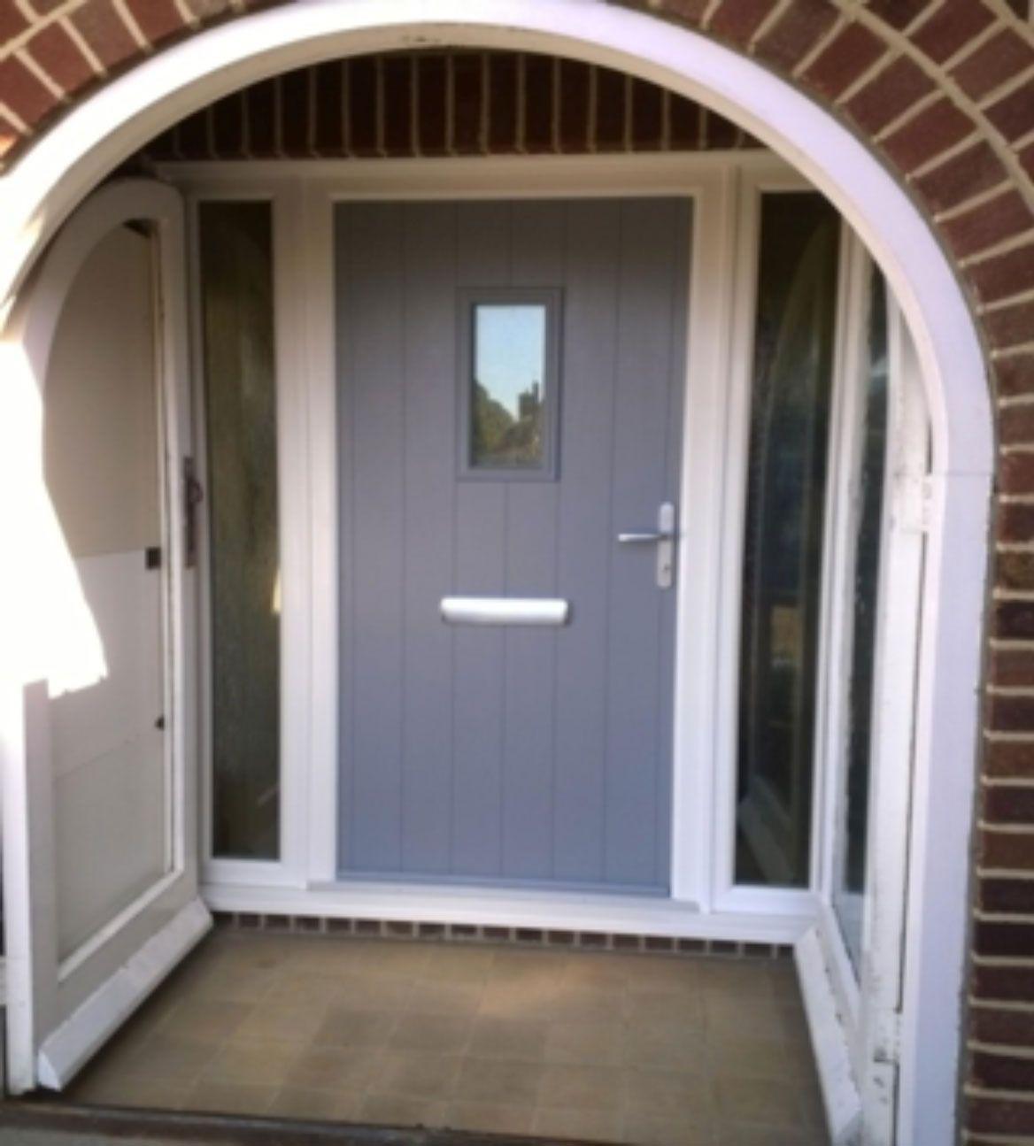 Composite light green doors google search doors for Composite front doors