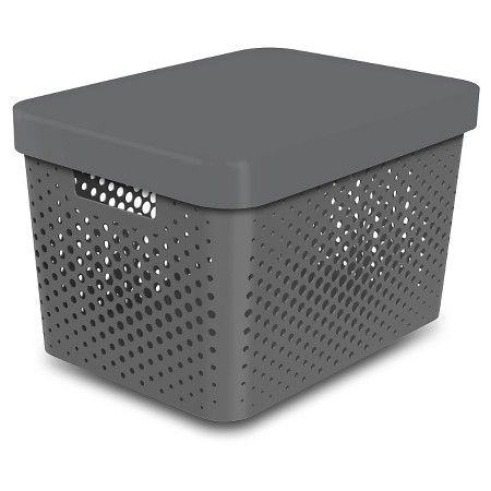 Bin Perforated Gray Room Essentials