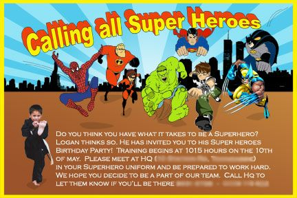 Superhero Save The Date Invitations