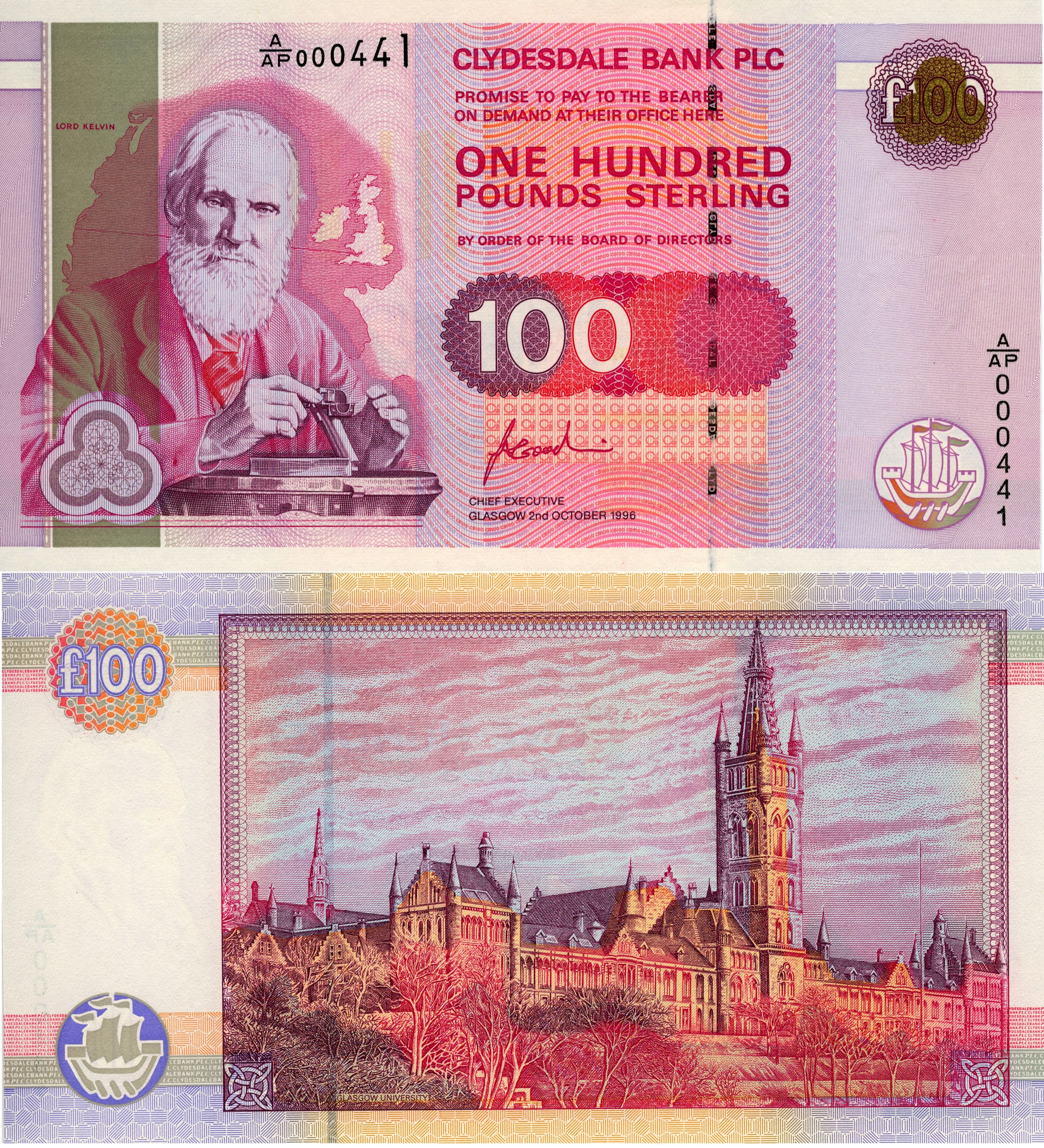 William Thomson 1st Baron Kelvin Is On The 100 British Pound Note He Is Known For Thermodynamics Kelvin Mcm Ma Currency Design Bank Notes Banknotes Money