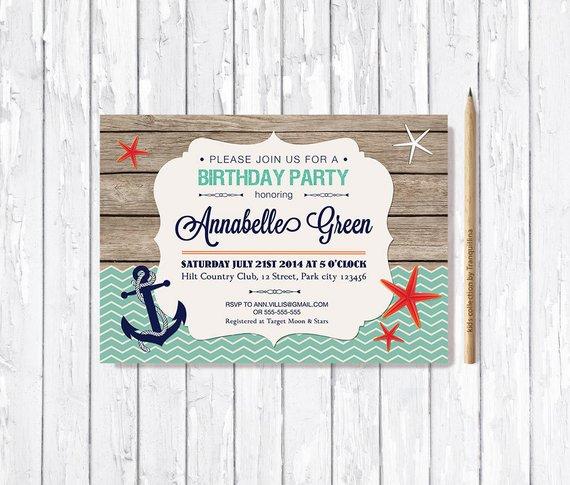beach birthday invitation beach baby shower invitation summer