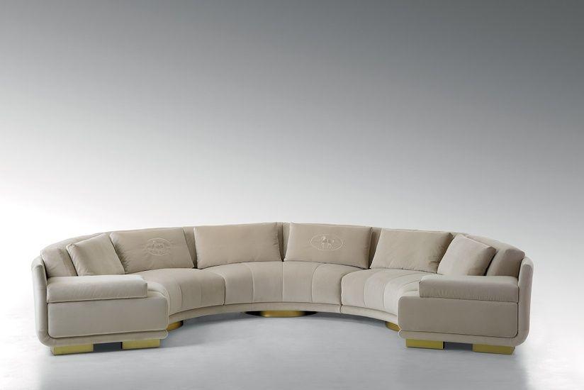 Fendi Casa Artu Round Sectional Sofa Google Search Fendi Casa Curved Sofa Couches For Sale