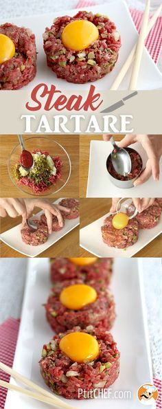 #ptitchef #recette #cuisine #steak #tartare #sanscuisson #faitmaison #recipe #cooking #food #homemade #diy #imadeit