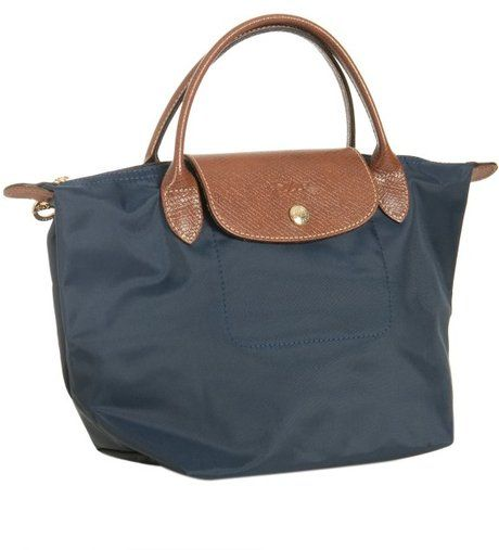 8b04a2fdca Longchamp Navy Nylon Le Pliage Small Folding Tote in Blue (navy) - Lyst