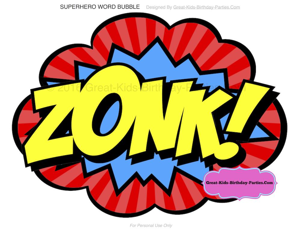 Free Superhero Printables – Planning a Superhero Party? Download ...