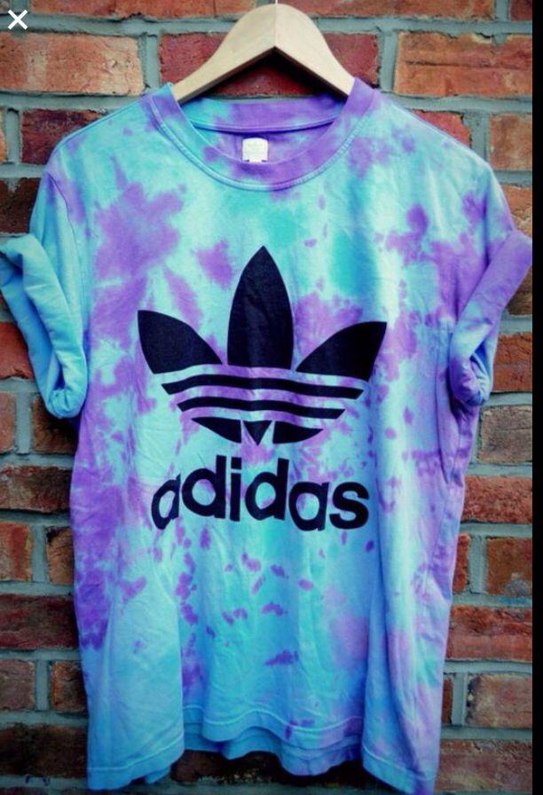 retro adidas tie dye t shirt