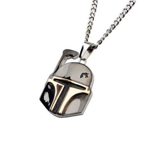Boba Fett Helmet Pendant Stainless Steel Necklace