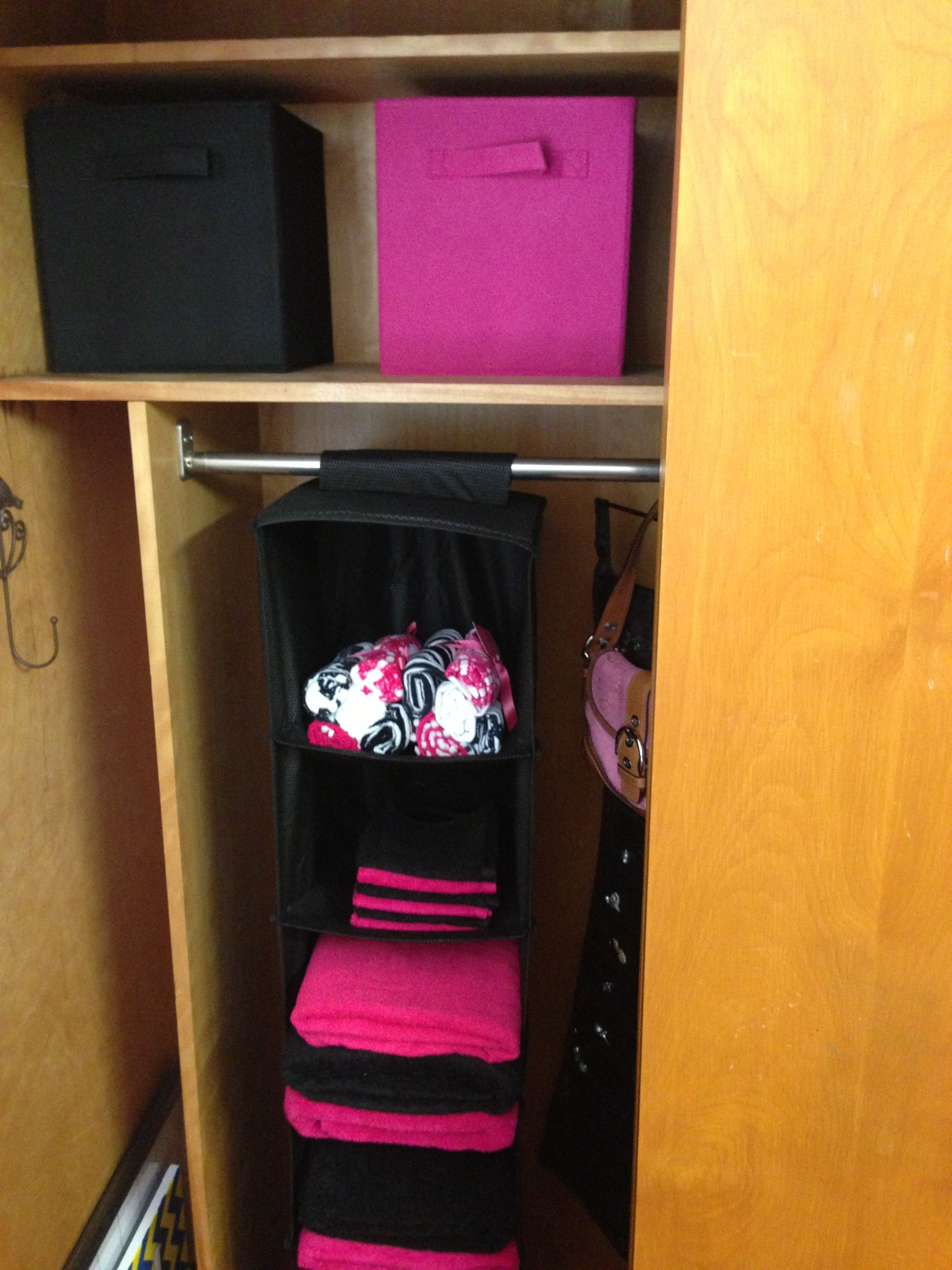 College dorm closet organization ideas! #UCO