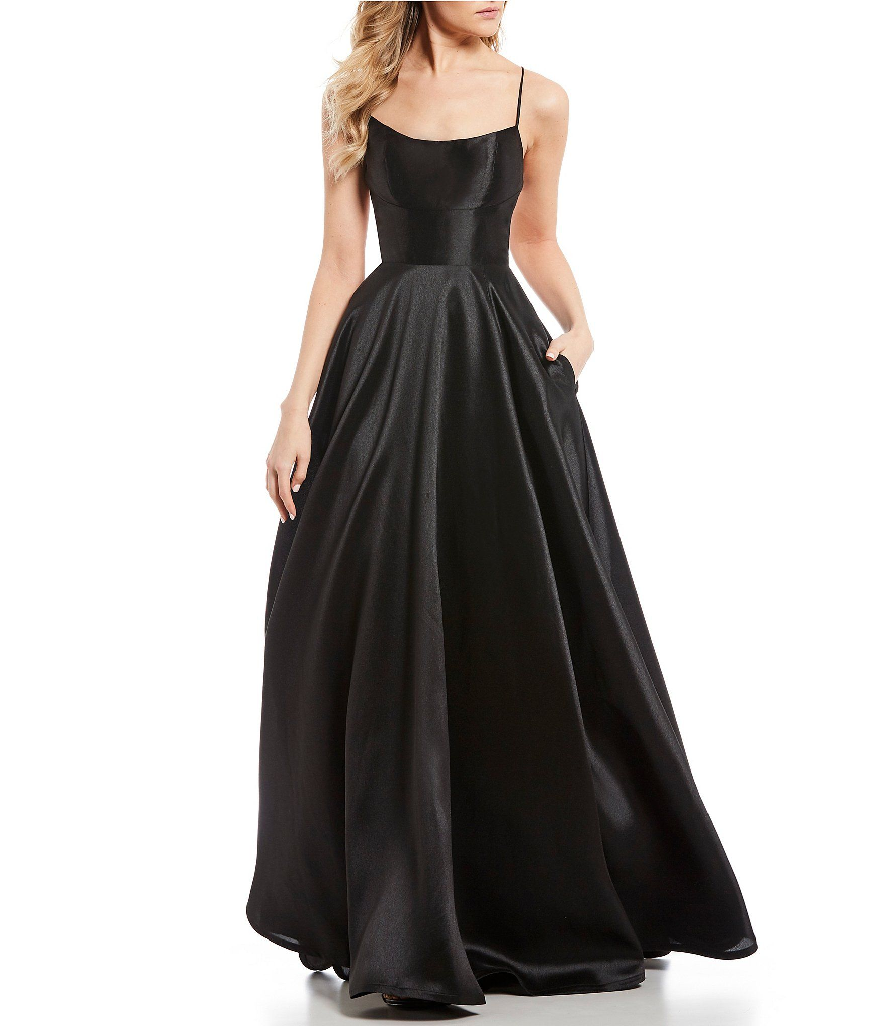 f784c98d39 Shop for B. Darlin Lace Up Back Satin Long Dress at Dillards.com. Visit  Dillards.com to find clothing