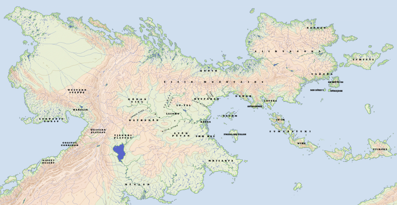 A map of the Akana languages.