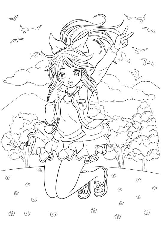Раскраски «Аниме» - «Милая девочка» | Ausmalbilder ...