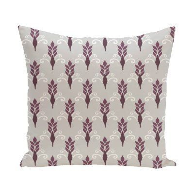 E by Design Friendship Decorative Pillow Purple Polyester - PGN234GY4PU5-18