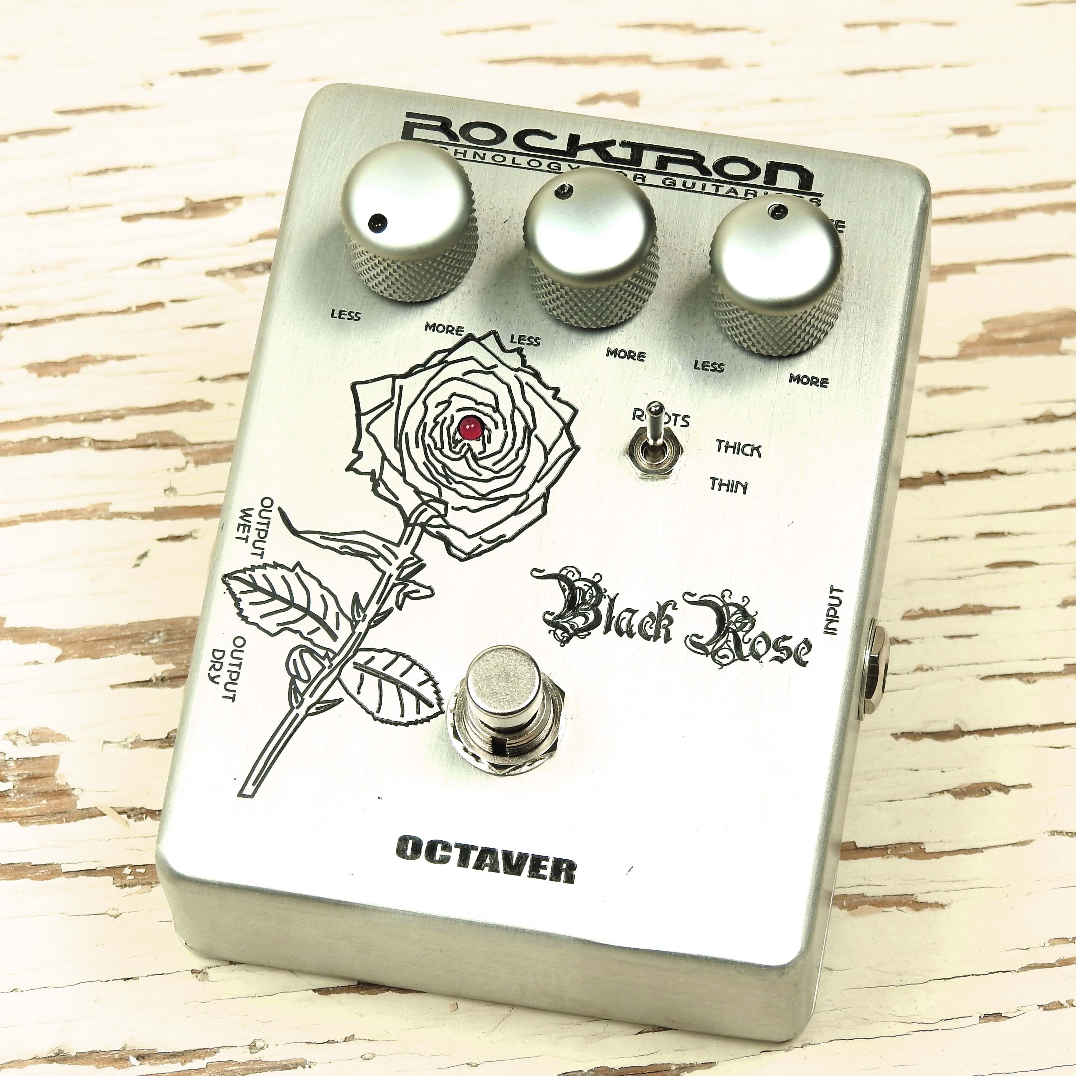Used Rocktron Black Rose Octaver V1 Octave Fuzz Effects Pedal Guitar