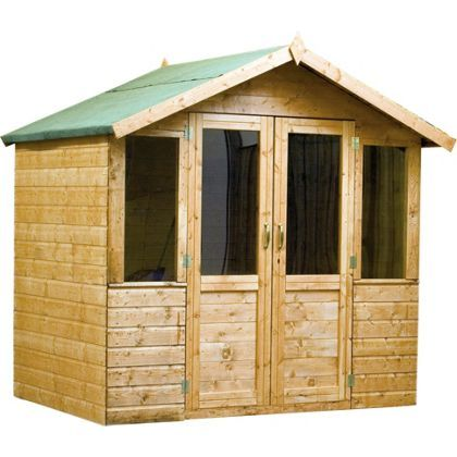 mercia brighton summerhouse and veranda 7x7ft at homebase be inspired and make - Garden Sheds Homebase