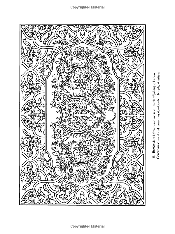 Traditional Designs From India Dover Design Coloring Books Marty Noble 9780486448152