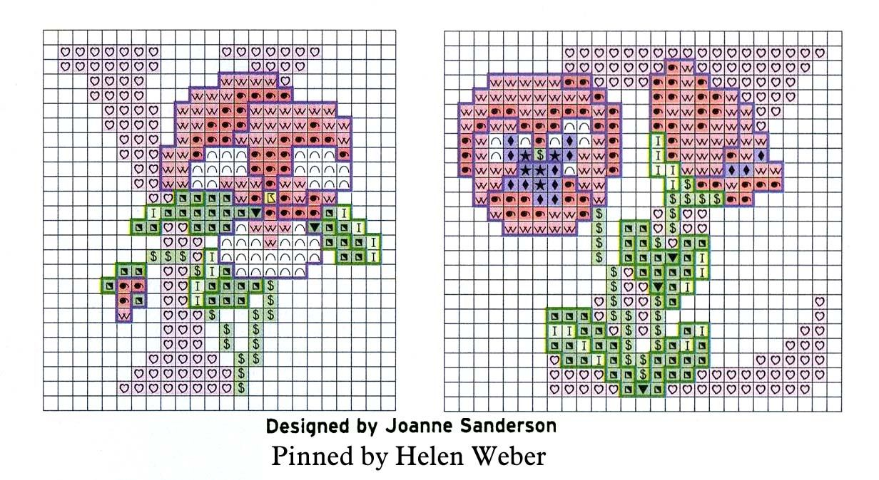 letter U Monogram cross stitch pattern Letter cross stitch  pattern PDF monogram pansy
