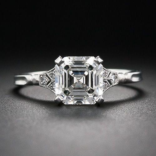 91fd0e0882d26 2.00 Asscher-Cut Diamond Engagement Ring - 10-1-6105 - Lang Antiques ...