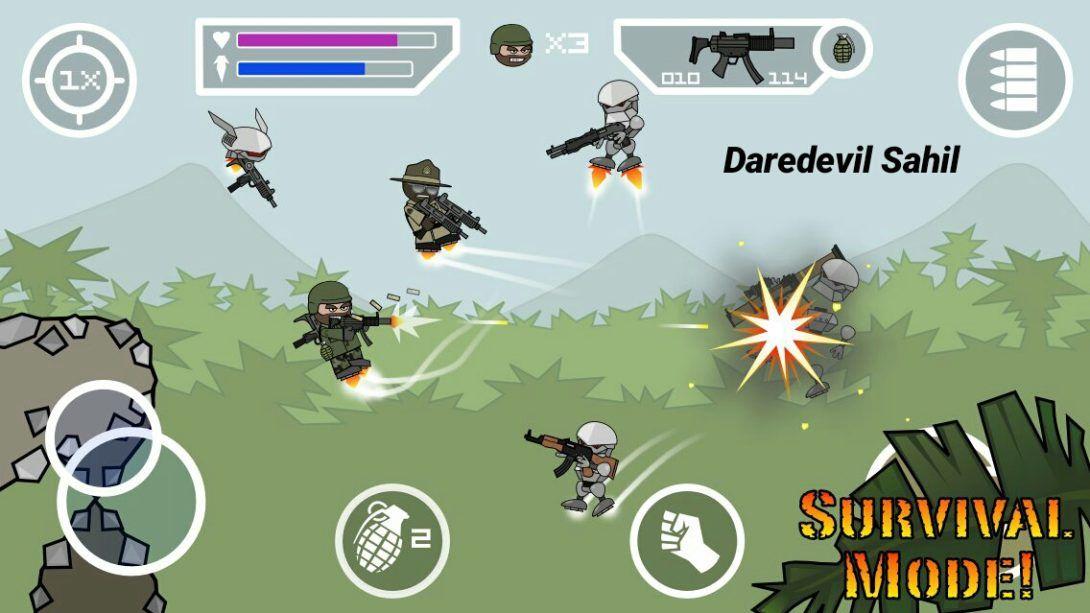Mini Militia Mega MOD APK 4.1.1 (Wall Hack) Daredevil