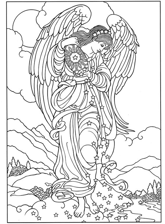 Welcome To Dover Publications Angel Coloring Pages Coloring