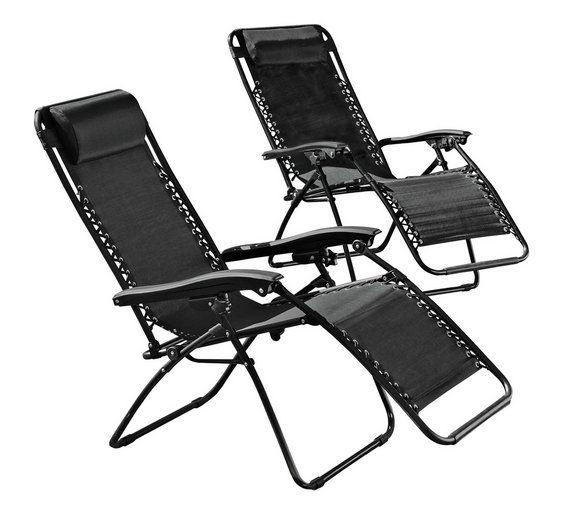 Buy HOME Reclining Sun Loungers - Set of 2 at Argos.co.uk, visit ...