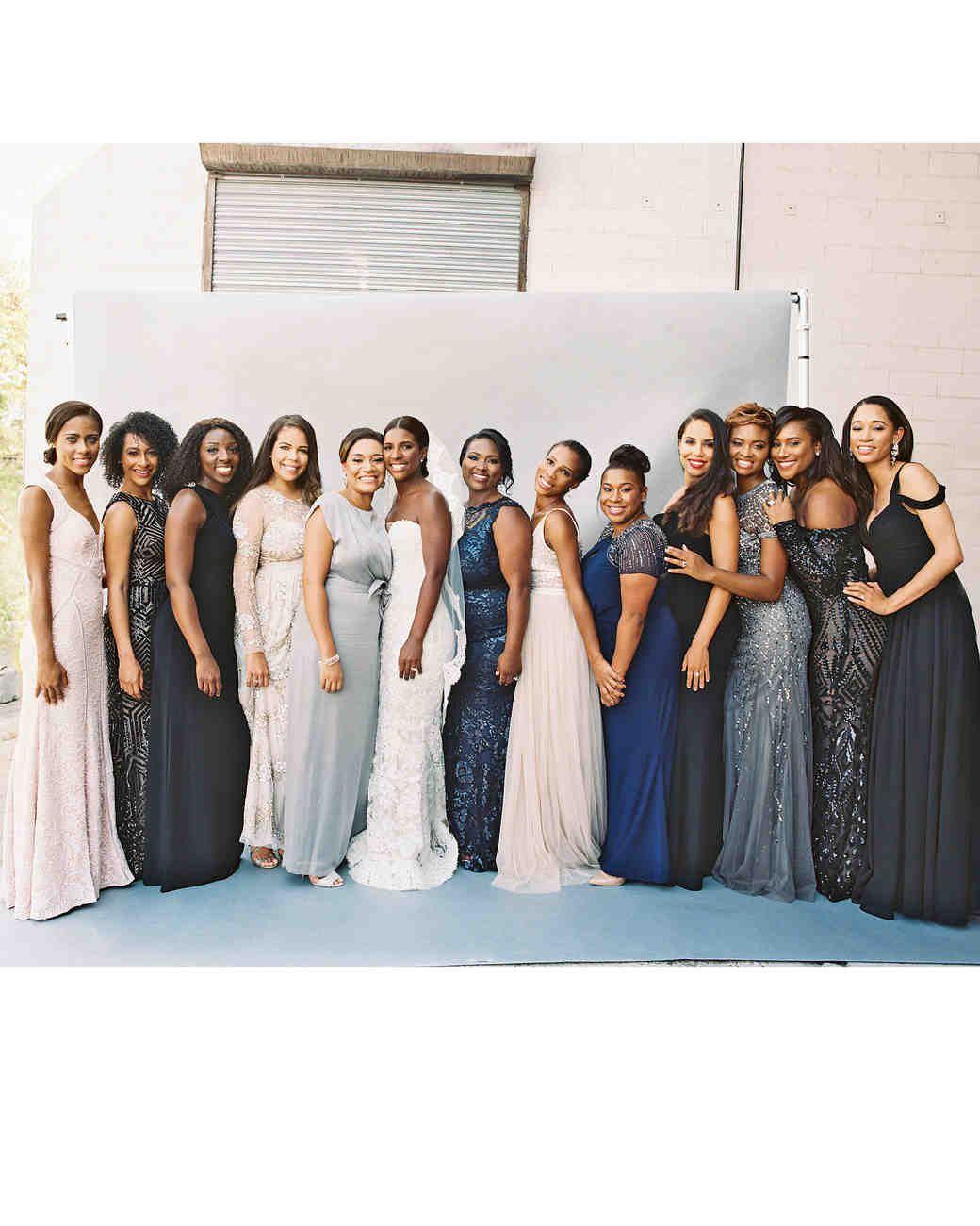 Lindsey william wedding dc bridesmaids mismatched metallic and