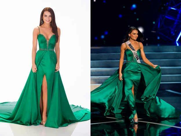 710a6829879a Beautiful Emerald Dress - Miss America constant