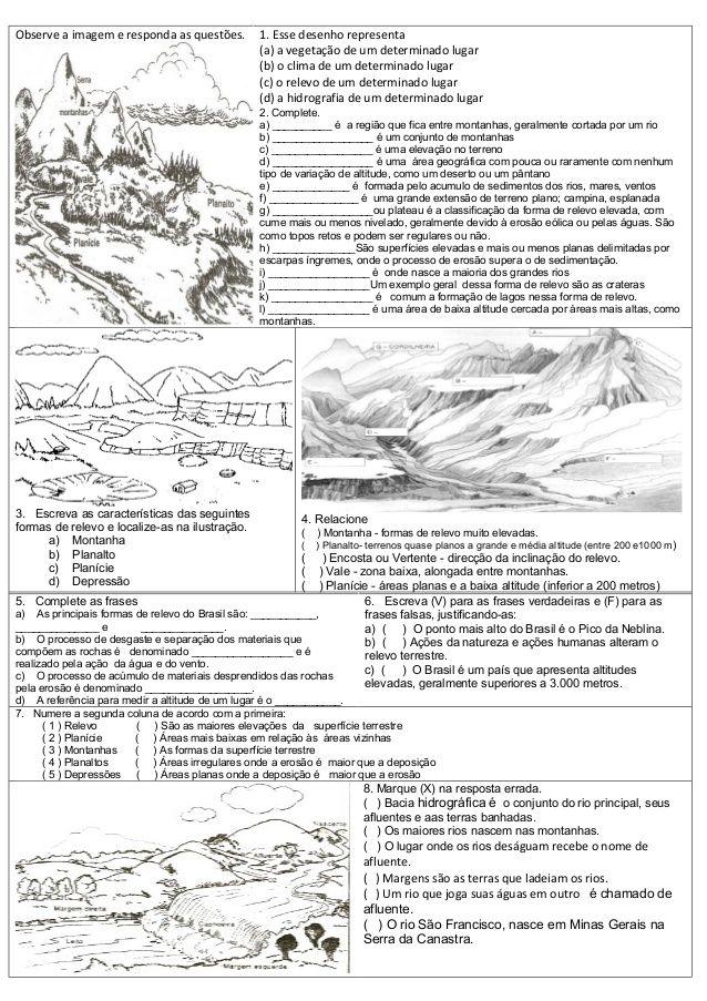 Atividades De Geografia Atividades De Geografia Geografia