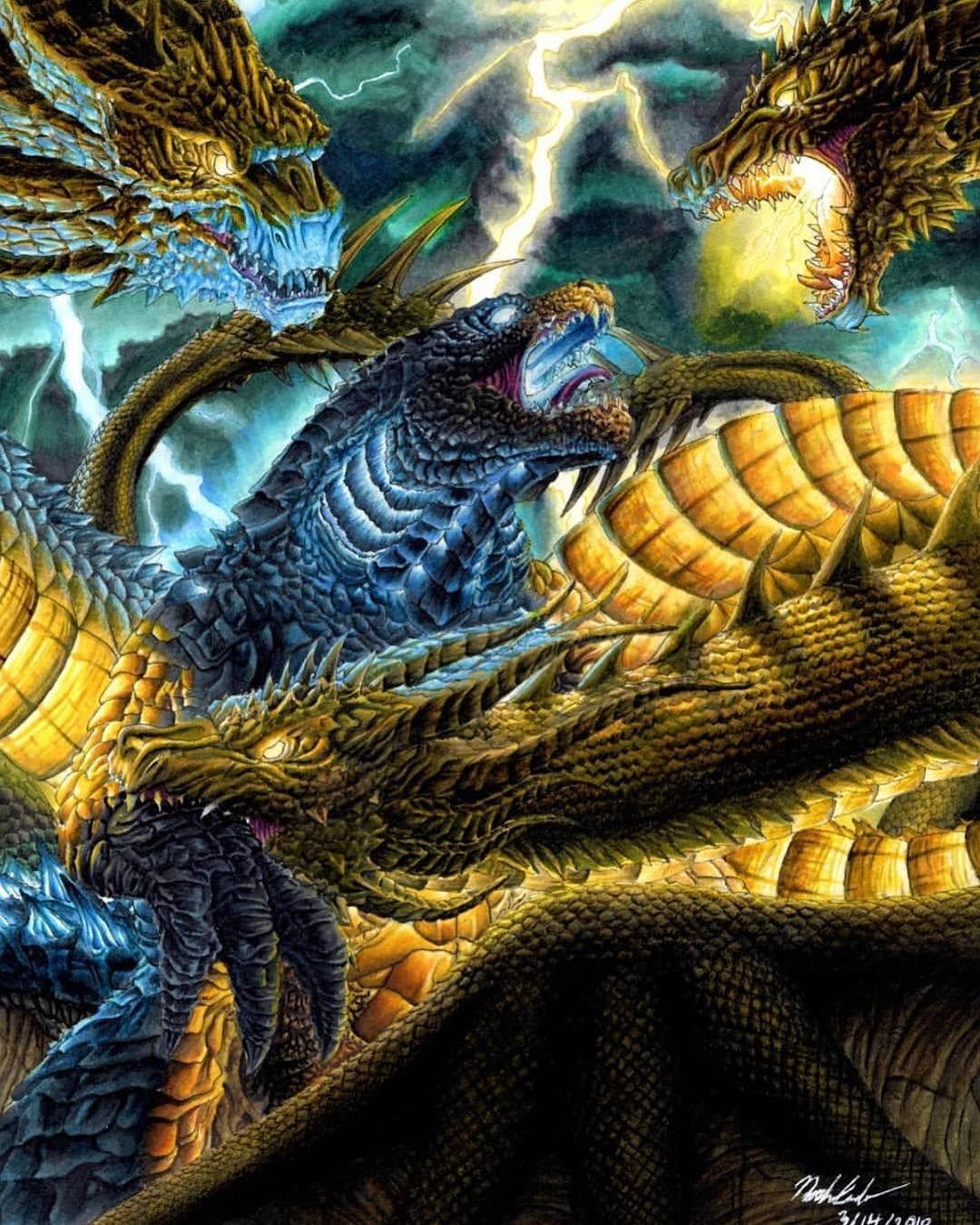 Godzillavskingghidorah Amazing Art By Alexvaldez1992