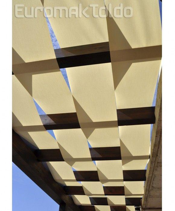 Toldos modernos y soluciones originales euromak toldo for Plafones pared originales