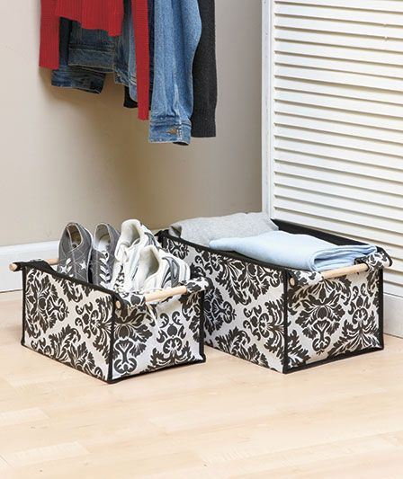 Sets of 2 Fabric Storage Bins|The Lakeside Collection $4.95