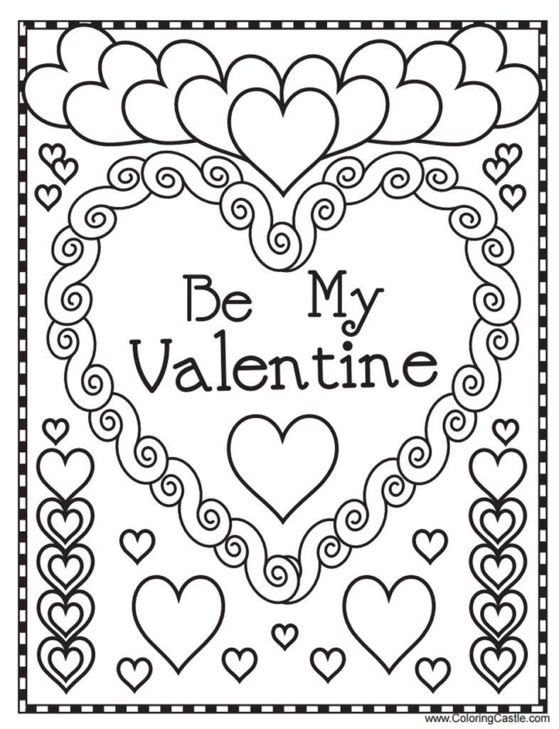 Valentines Day Coloring Pages Free Printable Valentine S Day Coloring In 2020 Printable Valentines Coloring Pages Valentines Day Coloring Page Valentine Coloring Pages