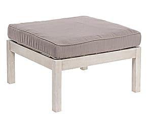 Pouf Arredamento ~ Pouf con cuscino in acacia bianco remo cm arredi