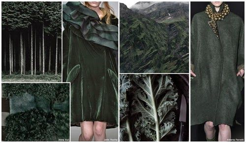 FASHION VIGNETTE: TRENDS // FASHION SNOOPS - FALL/WINTER 2015-16 WOMEN'S COLOR FOREST GREEN