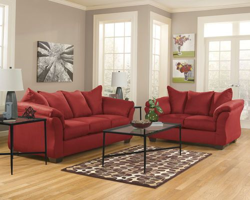 Darcy Salsa Sofa Loveseat Amp Augeron Table Set Living