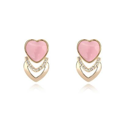 Korean exquisite fashion peace fruit decorated with zircon studs earrings  Pure clear colors is redefining the future of fashion