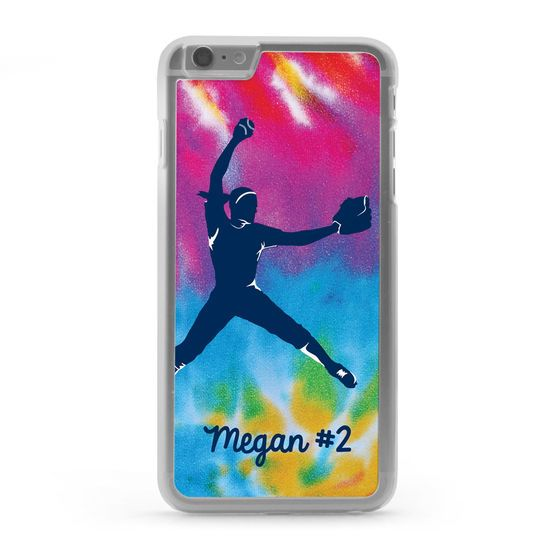 Pitchers Will Love Our Bold Tie Dye Softball IPhone® Case