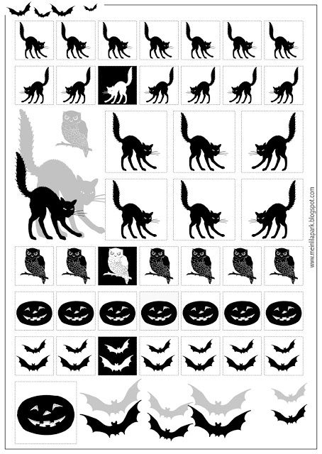 Free printable Halloween stickers black and white - ausdruckbare Sticker -  freebie | MeinLilaPark – DIY