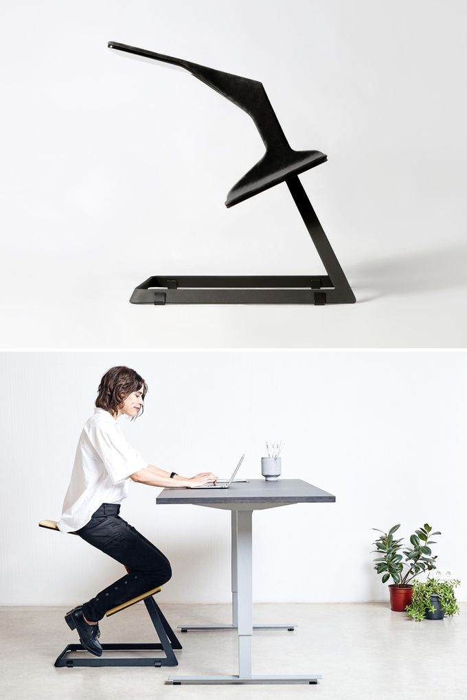 this ergonomic chair with unique geometry keeps your back straight