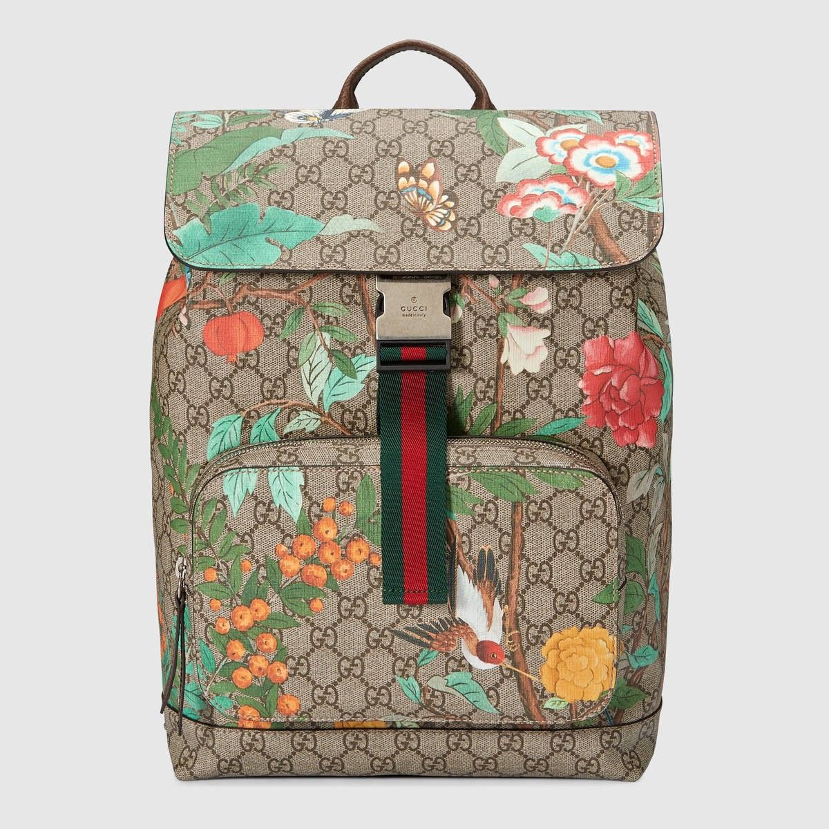 9044d17942bd20 GUCCI Gucci Tian Gg Supreme Backpack - Gg Supreme. #gucci #bags #lining # canvas #backpacks #suede #