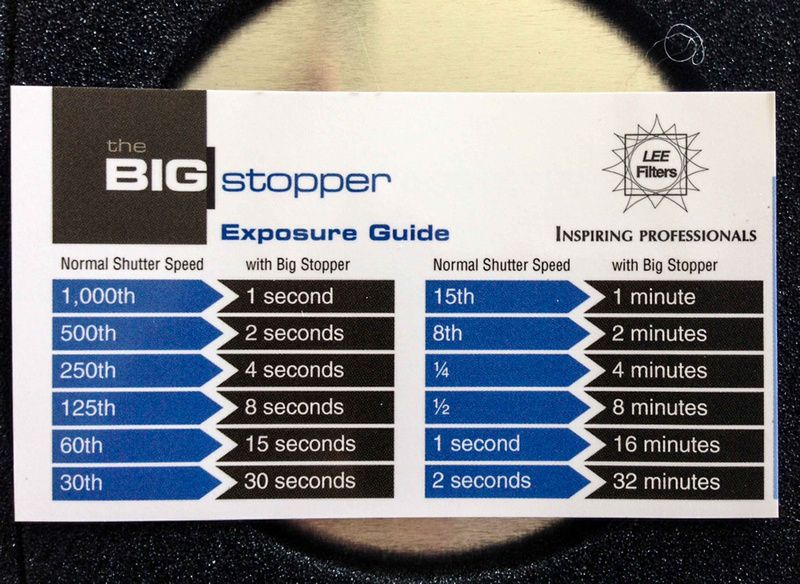 Lee Big Stopper Exposure Guide | Photography | Photography, Weather