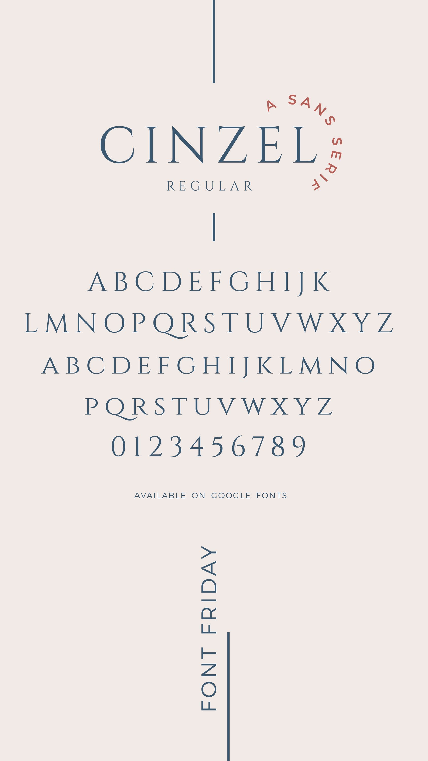 Happy Font Friday Friends We Love Cinzel For Its Nod Back To