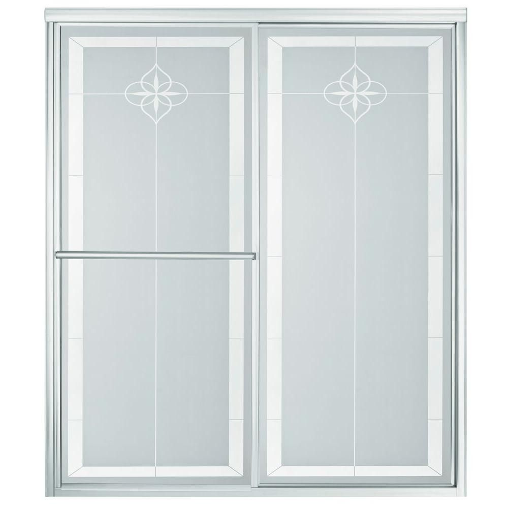 Sterling Deluxe 48 78 In X 70 In Framed Sliding Shower Door In