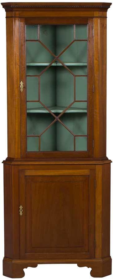 Antique Corner Cabinet In Mahogany Wood Antique Corner Cabinet