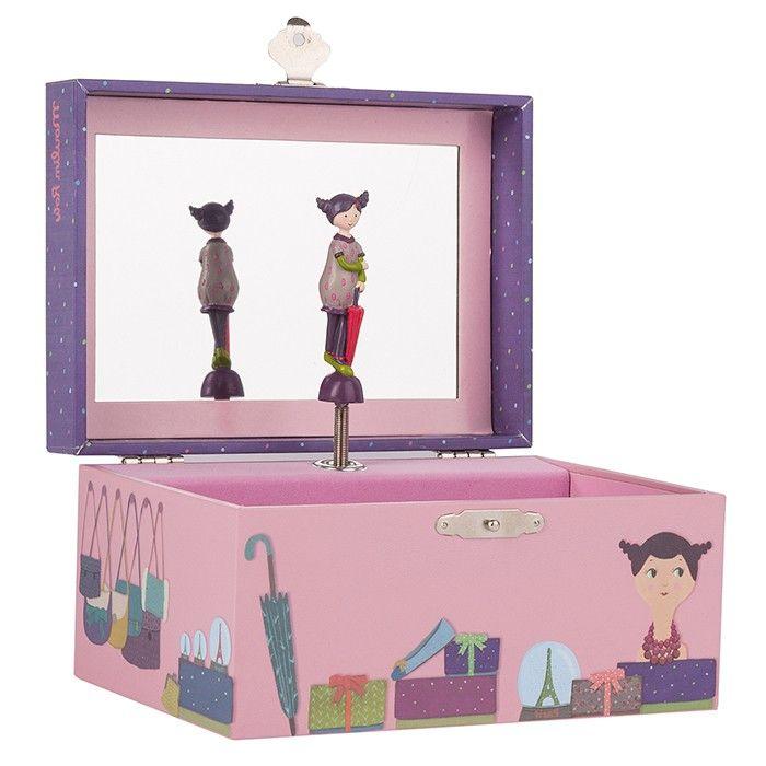 Caja de madera musical Parisinas Moulin Roty