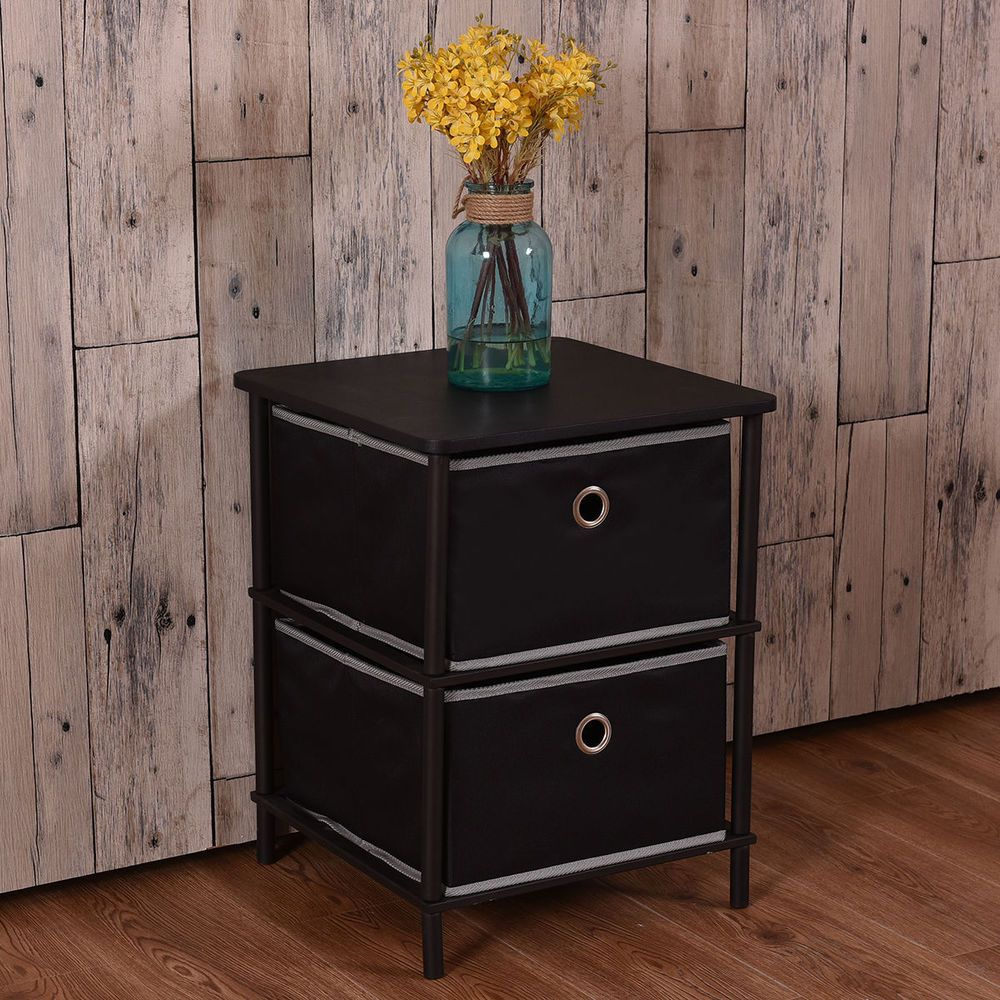 tier nightstand table storage side table home office furniture