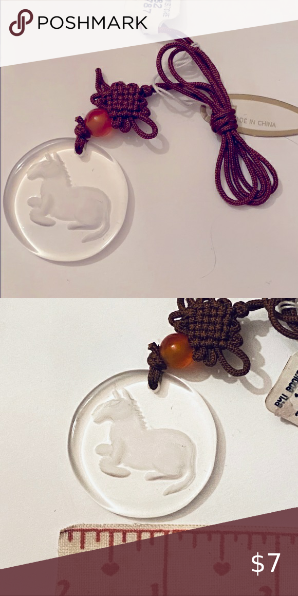 (10 for $10) Chinese Zodiac Pendant- Horse Horse engraved in glass pendant, attached to necklace NWT This is part of the (10 for $10) sale Add 10 items marked (10 for $10) to a bundle for the sale price:) Jewelry Necklaces
