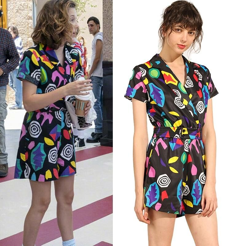Multi Colored Rubies Womens Stranger Things 3 Elevens Mall Costume Dress