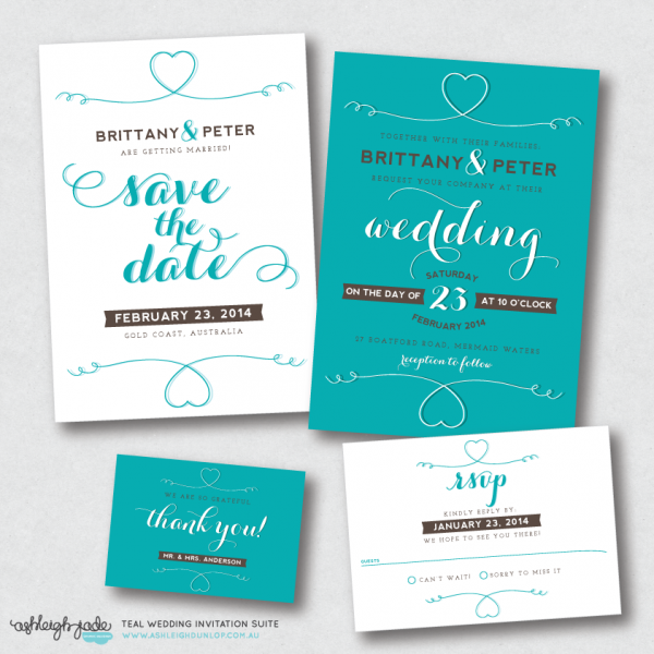 Teal Invite Suite The Wedding Invitation For Your Day Full